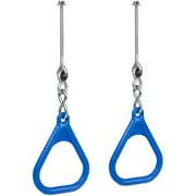 Swing Set Stuff Inc. Trapeze Rings with Swing Hangers (Blue)