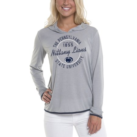 Women's Gray Penn State Nittany Lions Mason Block Pullover Hoodie
