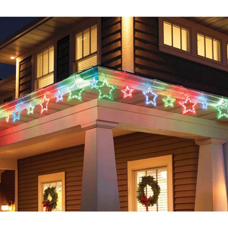 holiday time 10 count star christmas lights multi color