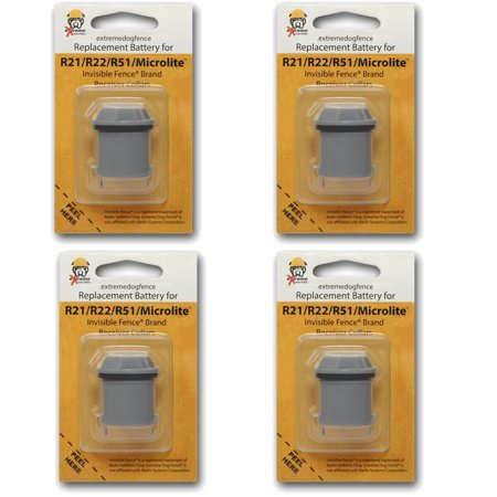 Invisible Fence Brand Compatible Batteries (eXtreme Dog Fence Brand) - 4 Pack