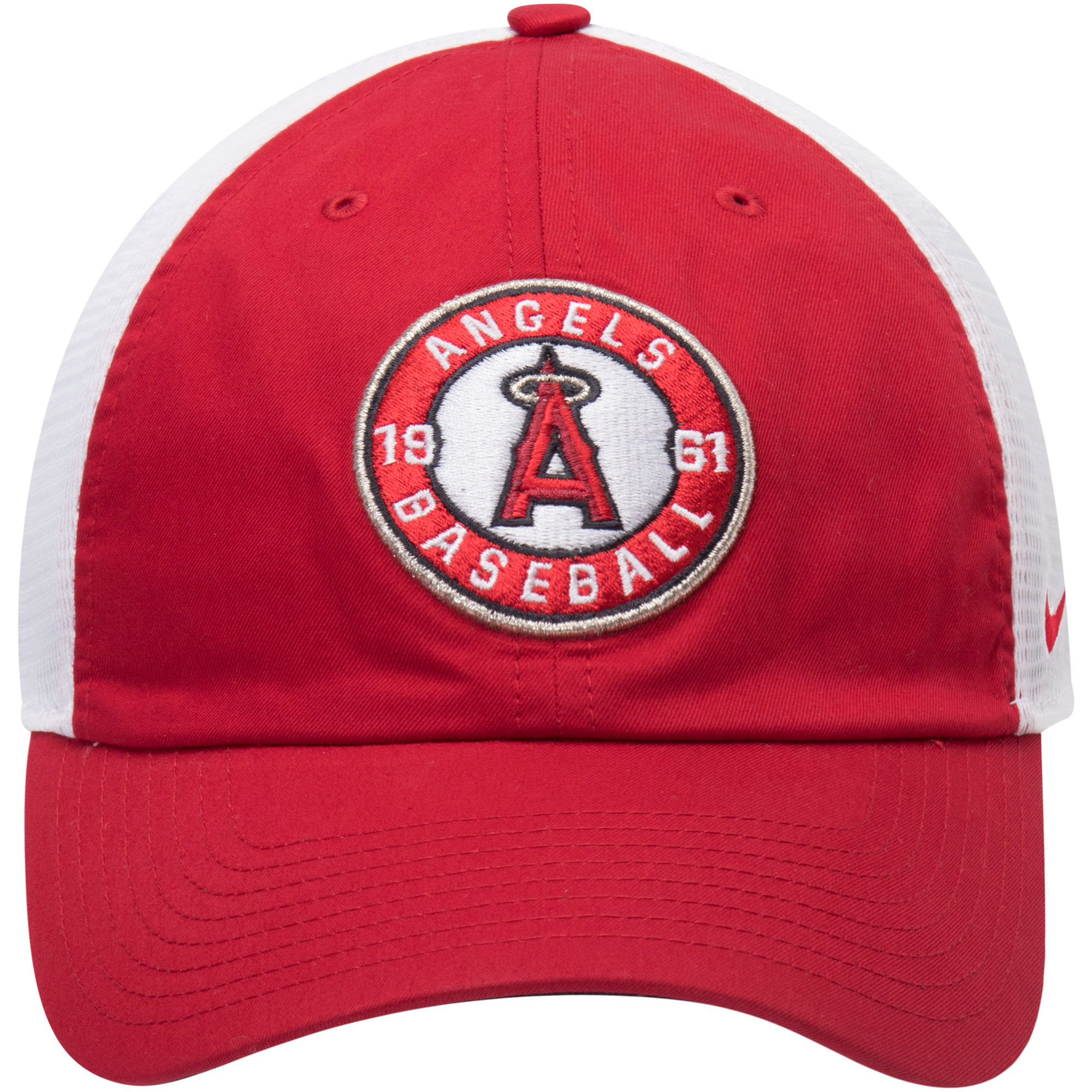 43a1c6fa0e7c4 Los Angeles Angels Nike Heritage 86 Fabric Mix Performance Adjustable Hat -  Red White - OSFA - Walmart.com