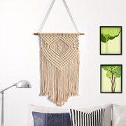 Bohemian Cotton Handmade Knitted Woven Macrame Wall Art Hanging Tapestry Bedroom Shop Wedding Home Wall Art Decor Birthday Gifts