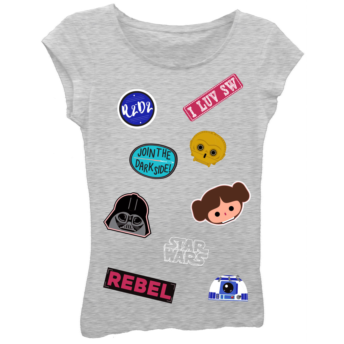 Girls' Short Sleeve Graphic T-shirt With Puff Ink