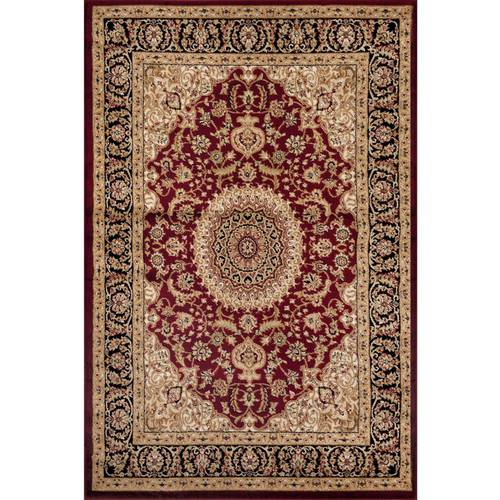 World Rug Gallery Traditional Oriental Medallion Design Area Rug ()