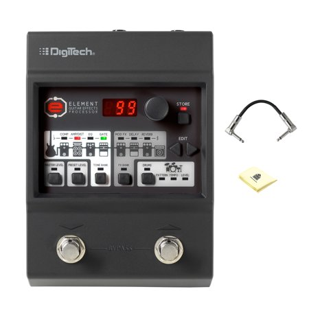 Digitech Studio (DigiTech ELMT Electric Guitar Multi Effect Pedal with R-Angle Patch Cable and Zorro Sounds Pedal Cloth )