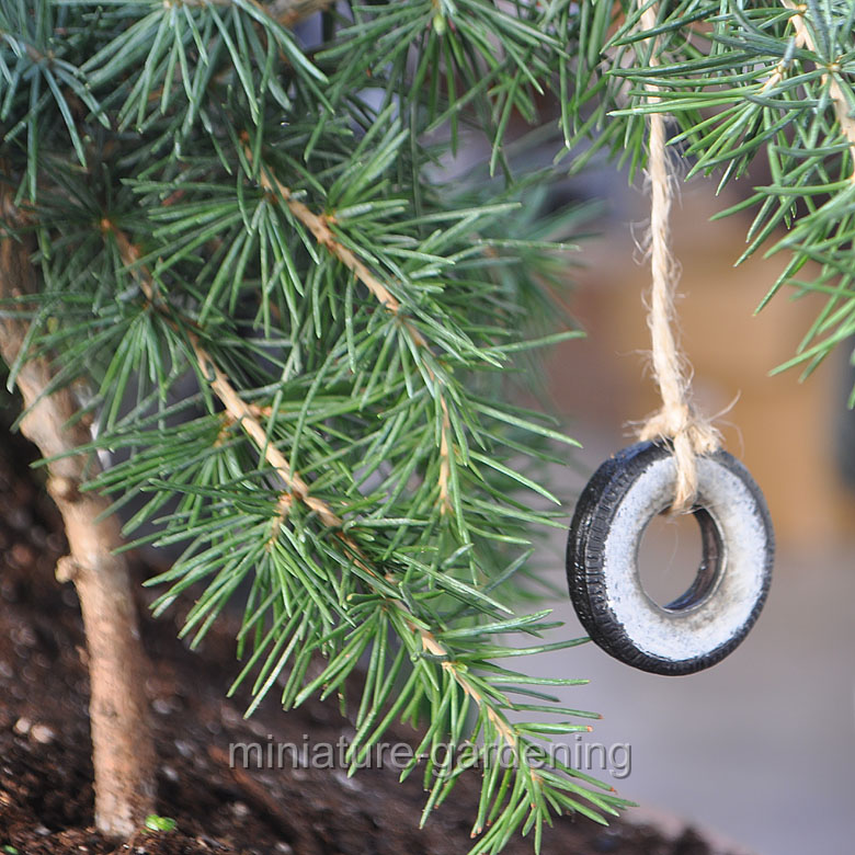 Wholesale Fairy Gardens Sidewall Tire Swing for Miniature Garden, Fairy Garden