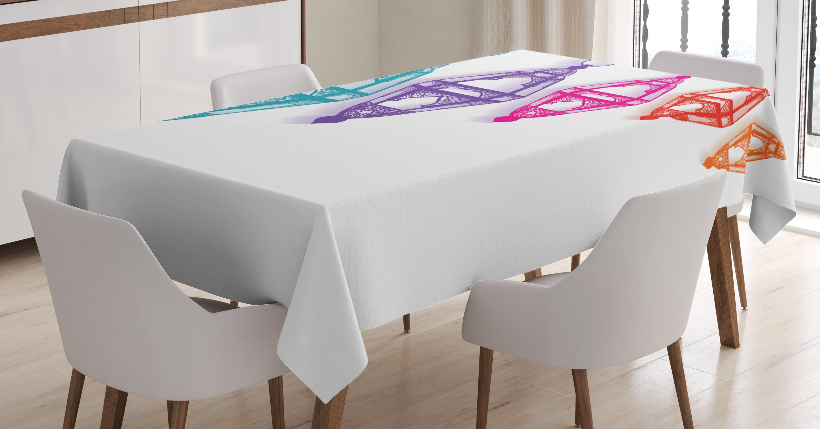 Lantern Tablecloth, Sacred Ramadan Celebration Hanging Fanoos Holy Month of... by Kozmos