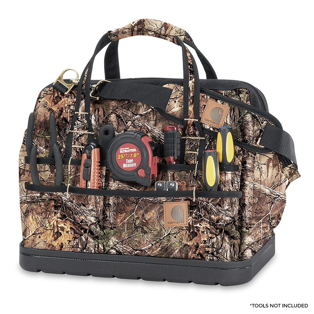 "Carhartt Legacy 16"" Tool Bag w  Molded Base, RealTree Xtra by Carhartt"