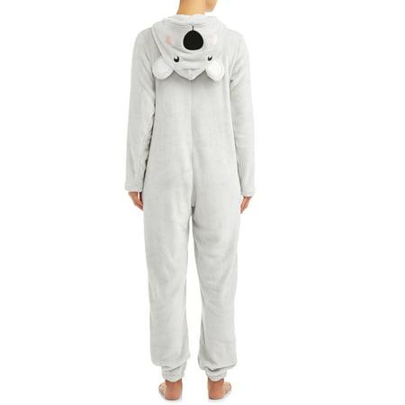 Body Candy Womens Koala Sleepwear Unionsuit