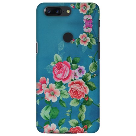 OnePlus 5T Case, Premium Handcrafted Designer Hard Snap on Shell Case ShockProof Back Cover with Screen Cleaning Kit for OnePlus 5T - Rose Print Provencal