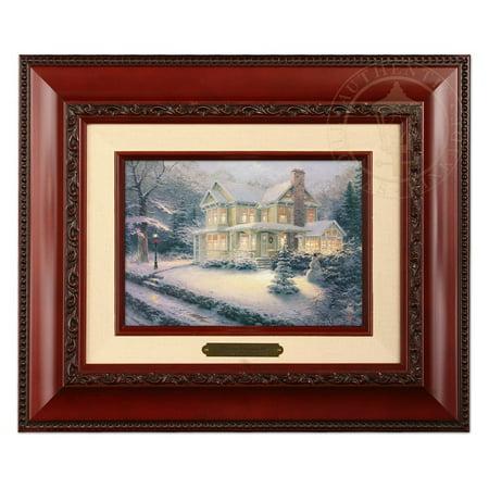 Thomas Kinkade Victorian Christmas III Brushwork (Brandy Frame) ()