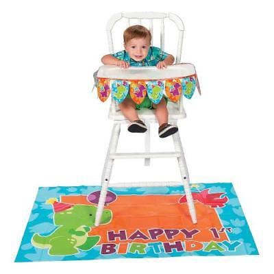 Dinosaur 1st Birthday (Little Dino 1st Birthday High Chair Decorating Kit By Fun)