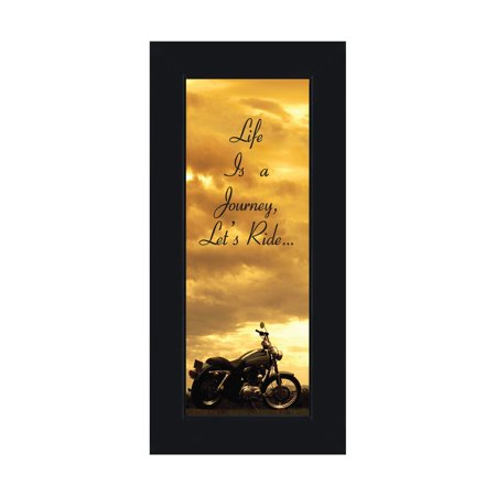 Journey Framed - Life's a Journey, Gifts for Motorcycle Riders, Harley Davidson Photo Frame, 6x12 7850