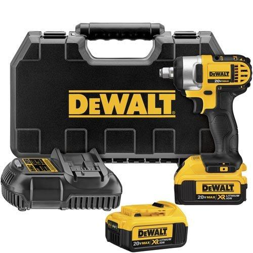 DEWALT DCF880HM2 20-volt MAX Lithium Ion 1/2-Inch Impact Wrench Kit with Hog Ring Anvil