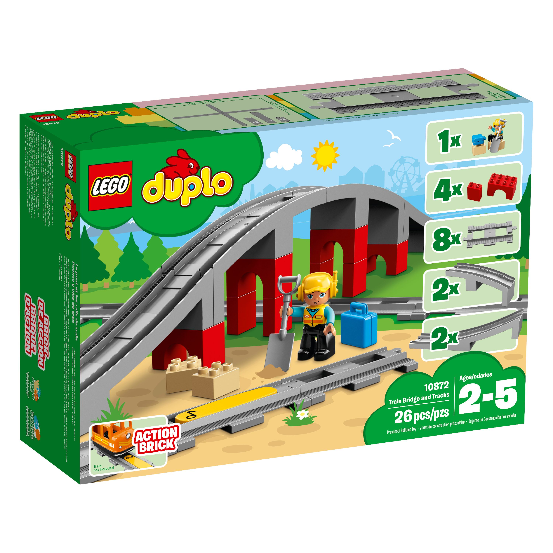 "Lego Duplo Train Track Bridge Replacement Piece Middle Top 7.5/"" Long Thomas Gray"
