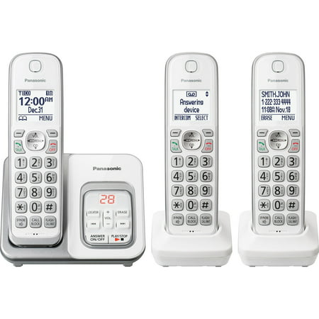 Panasonic KX-TGD533W Expandable Cordless Phone with Call Block and Answering Machine - 3