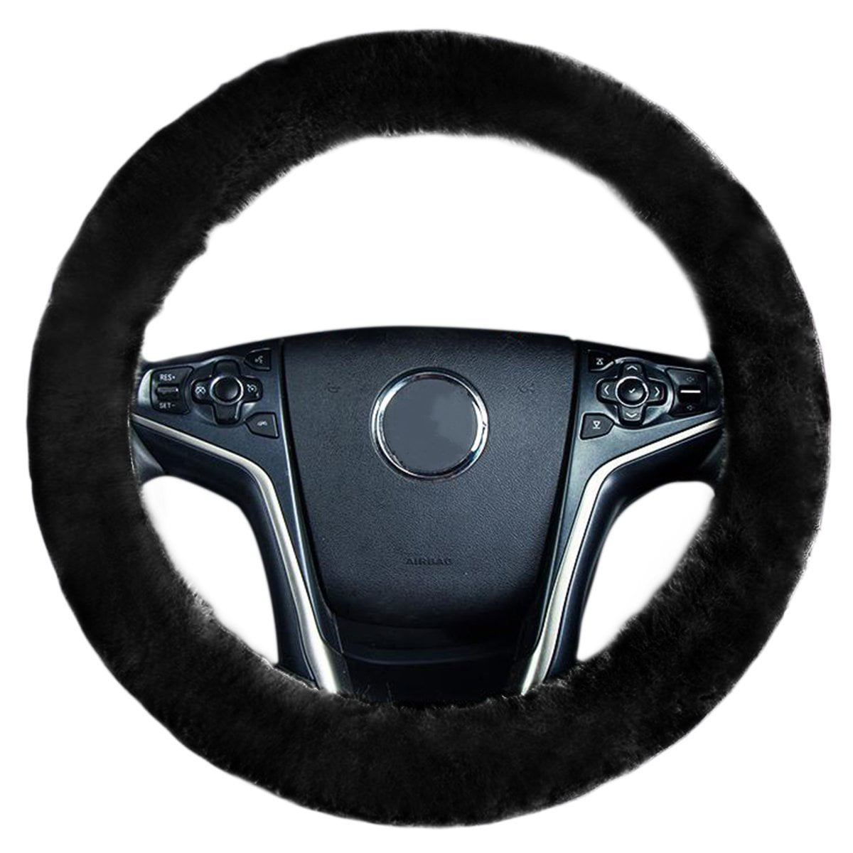 faux sheepskin steering wheel cover zone tech plush stretch onfaux sheepskin steering wheel cover zone tech plush stretch on vehicle steering wheel cover black classic car wheel protector walmart com