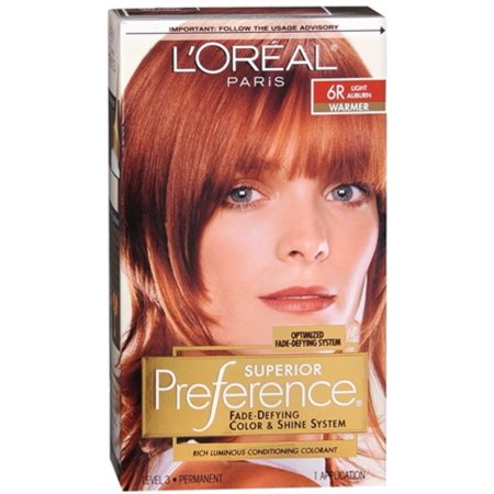 L Oreal Superior Preference 6r Light Auburn Warmer 1 Ea Pack Of