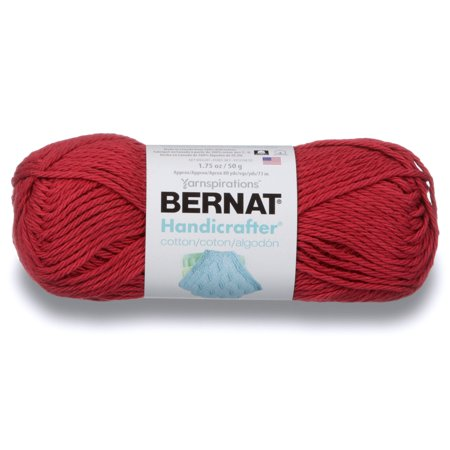 Bernat Handicrafter Cotton Yarn, 1.75 Oz, Country Red