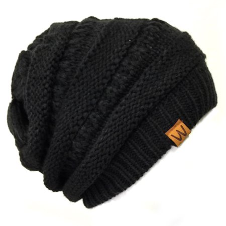 Wrapables® Slouchy Winter Beanie Cap Hat, Black