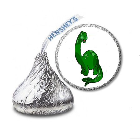 216 dinosaur labels stickers for hershey s kisses candies party