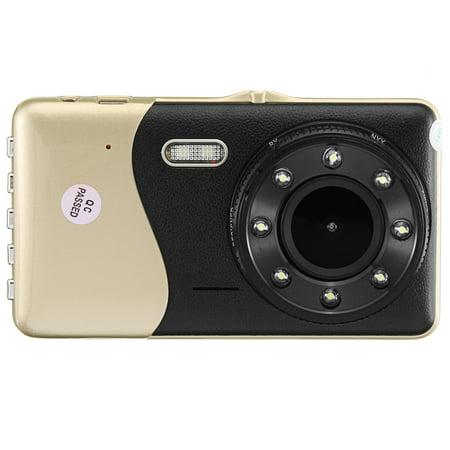 "4"" Dual Lens Car DVR Camera Dash Cam Video Rear Recorder G-Sensor Night Vision HD 1080P  - image 3 of 11"
