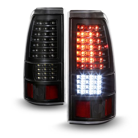 Avenn 2003 2006 Chevy Silverado 1500 2500 3500 Black Full Led Tail Lights Brake Lamps 2004 2005 03 04 05 06
