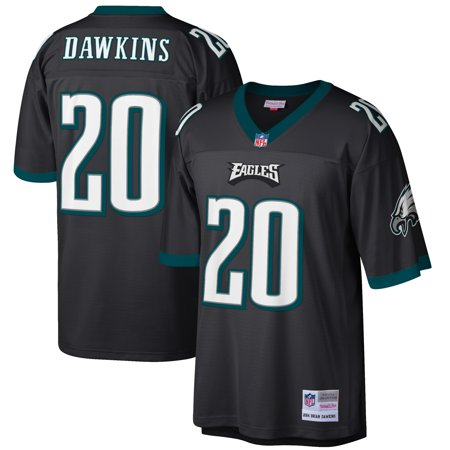 sports shoes d6e6e 91fab Brian Dawkins Philadelphia Eagles Mitchell & Ness Retired Player Replica  Jersey - Black