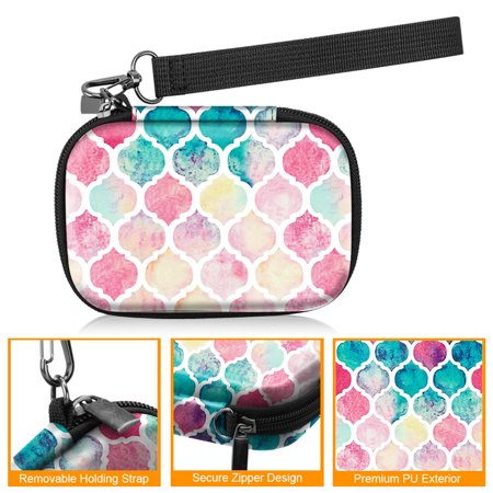 Fintie Case For HP Sprocket Photo Printer, Hard EVA Shockproof Cover w/ Inner Pocket Strap/Metal Hook, Moroccan Love - image 1 de 7