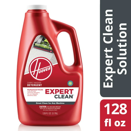 Hoover Expert Clean Carpet Washer Detergent Solution 128 oz, (Hoover Carpet Detergent)