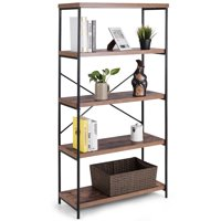 Costway HW59370 4-tier Industrial Design Book Shelf Deals