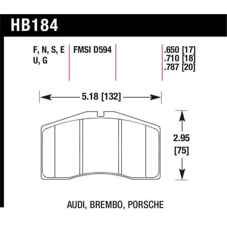 Hawk 92-97 Porche 911 Carrera/Turbo DTC-70 Race Brake Pads