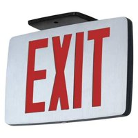 HUBBELL LIGHTING - COMPASS Exit Sign with Battery Backup,1W,Red CCEDRE