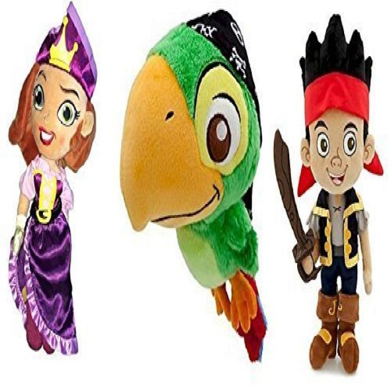 Disney Store Set of 3 Jake & the Neverland Pirates with J...