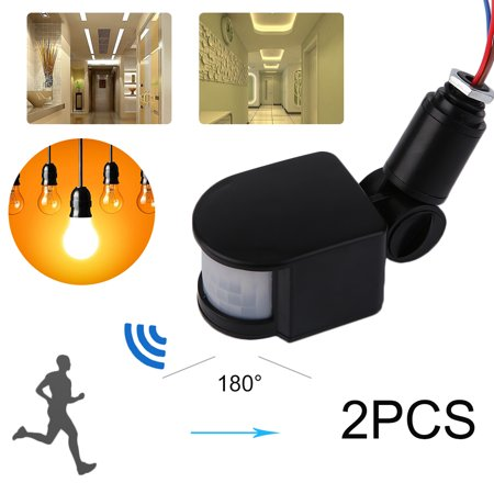 573261ef3abc 2pcs 180 Degree Security Safety PIR Infrared Motion Sensor Detector LED  Light - Walmart.com