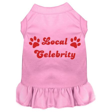 Local Celebrity Screen Print Dress Light Pink Sm (10)