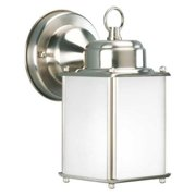 PROGRESS P5986-09 Wall Lantern,Outdoor,120V,Brushd Nickel G8349503
