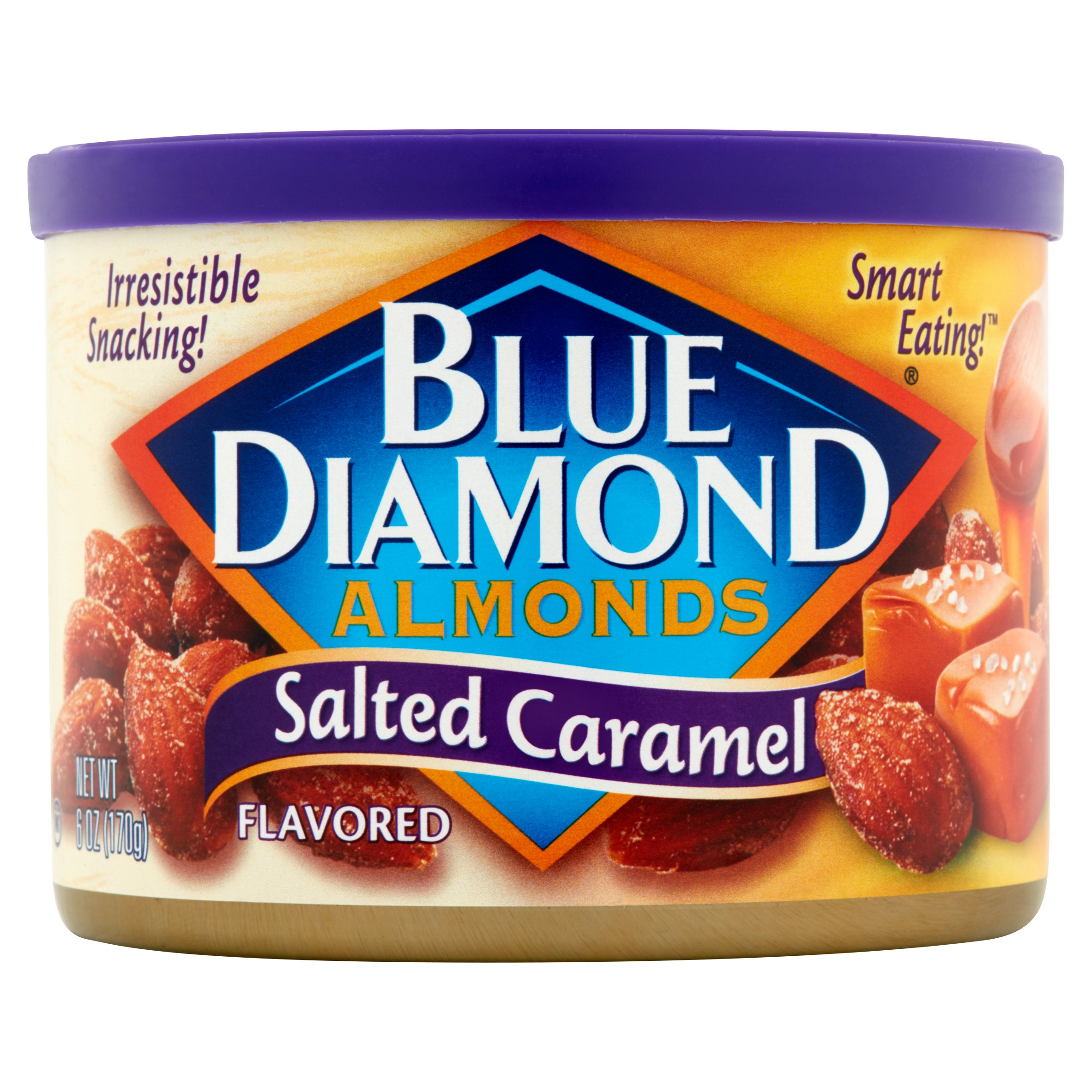 Blue Diamond Salted Caramel Flavored Almonds, 6 oz by Blue Diamond Growers