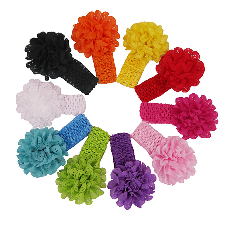 Outtop 10 Color Newborn Toddler Baby Girls Boys Flower Headband Head Wrap