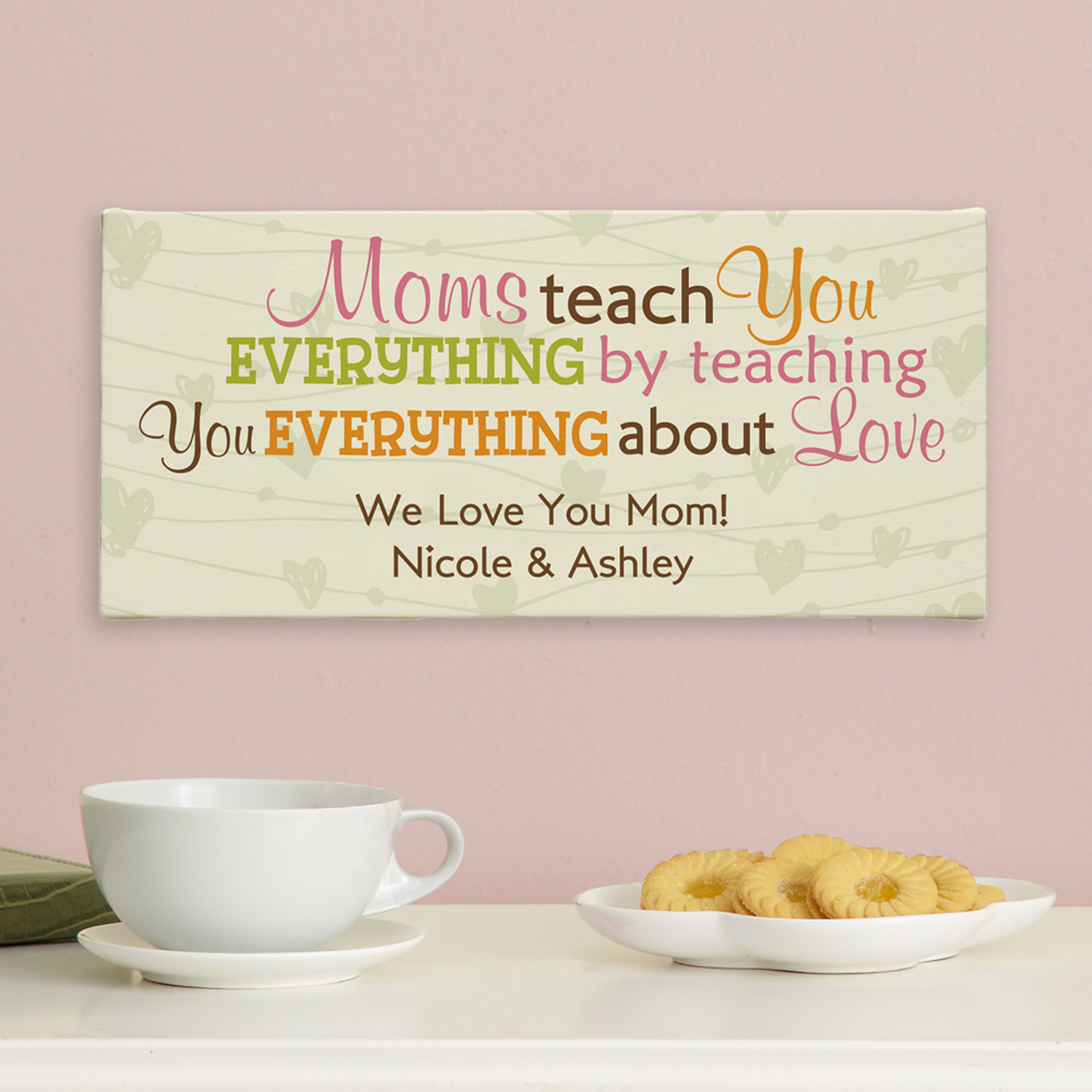 Personalized Teach You About Love Canvas, Grandma