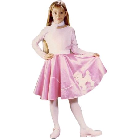 Childs 50s Poodle Skirt Costume~Large 11-14 / Pink](50s Pink)