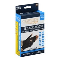 Copper Fit Hand Relief Compression Gloves, Multiple Sizes, As Seen on TV