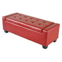 Homcom Faux Leather Storage Ottoman / Shoe Bench, Multiple Colors