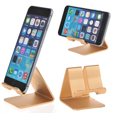 Universal Aluminium Cell Phone Desk Stand Holder for iPhone XS XR X 8 7 6S  6(Plus),iPad Mini/Air/Pro, Samsung Galaxy S9/S8/S7/S6 Edge Plus Note 9/8,