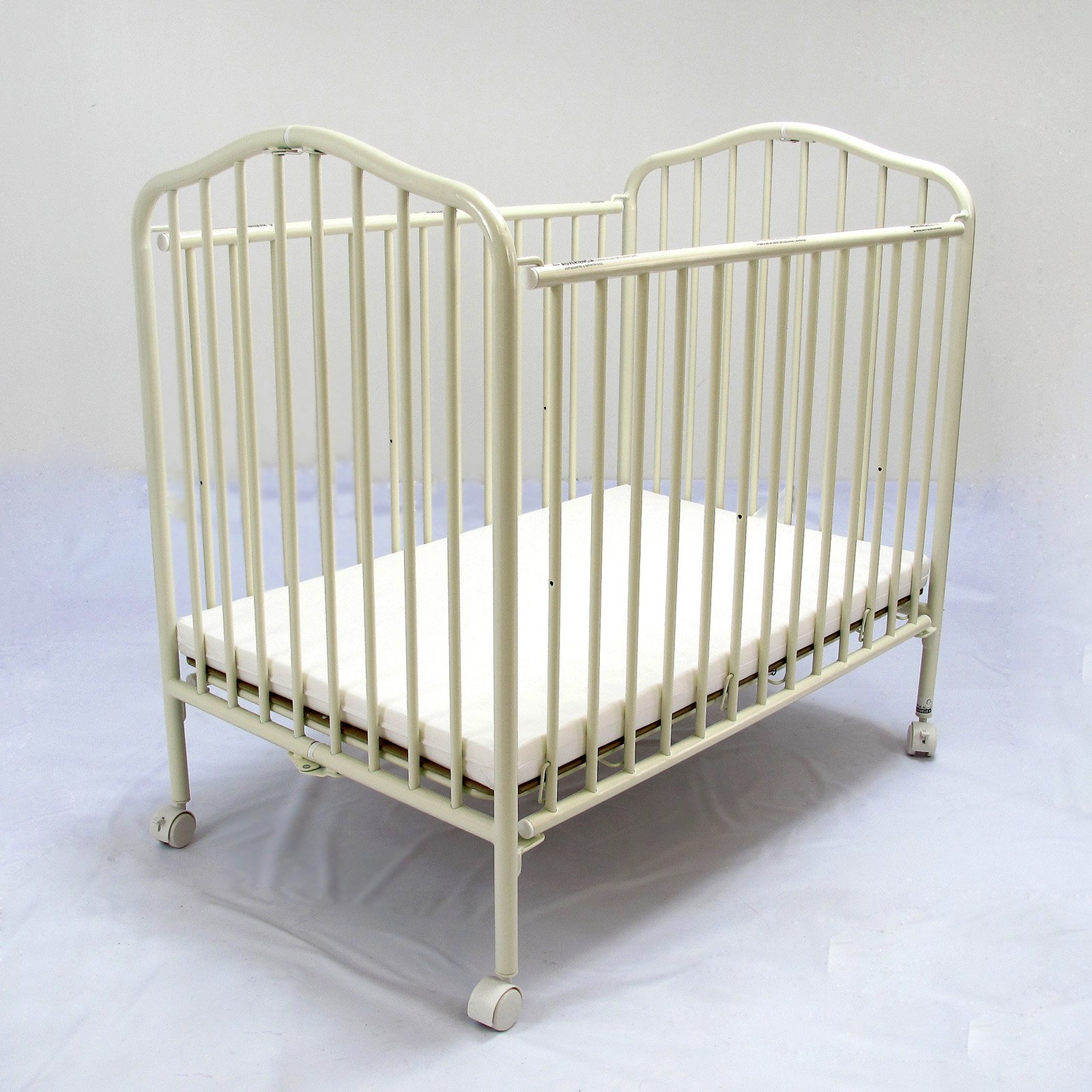 LA Baby Compact Metal Folding Crib
