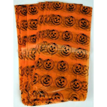 Frosted Plastic Jack-O-Lantern Goody Bags (Pack of 24), Bags measure 5