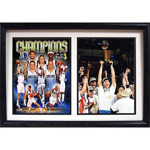 NBA Dallas Mavericks Champions Double Custom Frame, 12x18