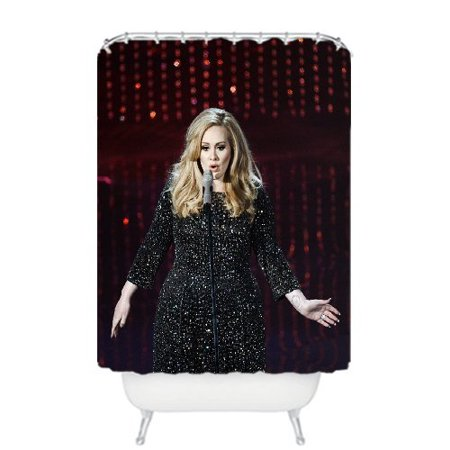 Deyou Adele Top Songs Shower Curtain Polyester Fabric Bathroom Shower Curtain Size 36X72 Inch