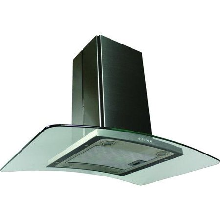 Contemporary Series Island Hood with 600 CFM Kitchenaid Island Hood