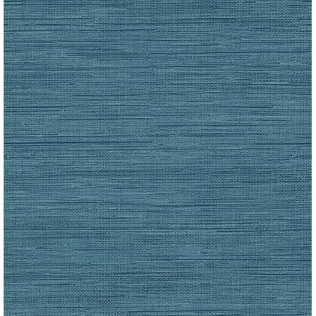 Brewster Sea Grass Blue Faux Grasscloth Wallpaper - Faux Grass Cloth